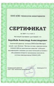 Сертификат Мониторинг